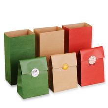 10pcs Kraft Paper Bags Gift Bags Food toaster Sandwich Bread Folding Pocket Party Wedding supplies Wrapping Gift takeout Bags