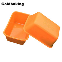 10 Pieces Rectangle Silicone Small Loaf Pan Silicone Muffin Baking Cups Cupcake Mold