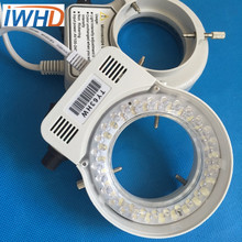 Electronic microscope lights LED ring lamps adjustable brightness of the professional lamp aperture 60mm white light(China)