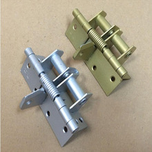 4 inch spring hinge automatic closing hinges 90 degree positioning closet stealth door hinge x6(China)
