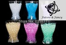 LUXURY GLITTER WATER AQUA CRYSTALS BEADS WEDDING casamento TABLE DECORATIONS CENTREPIECES, 6kg/lot, 6 COLOR FOR U PICK