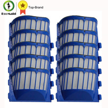 10 Pack Blue Aero Vac Filters For iRobot Roomba 500 600 Series Replacement AeroVac Filter Replacements 536,550,595, 600,620, 650