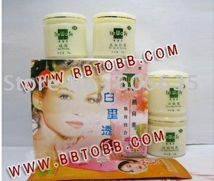 YanWoSu bailitouhong(4in1) whitening moisturizing cream set<br>