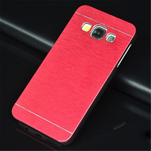 Case Samsung A3 2015 Cover Deluxe Metal Brushed Aluminum + Hard PC Phone Cases Galaxy A3000 - WALWORTHS Co.,Ltd store