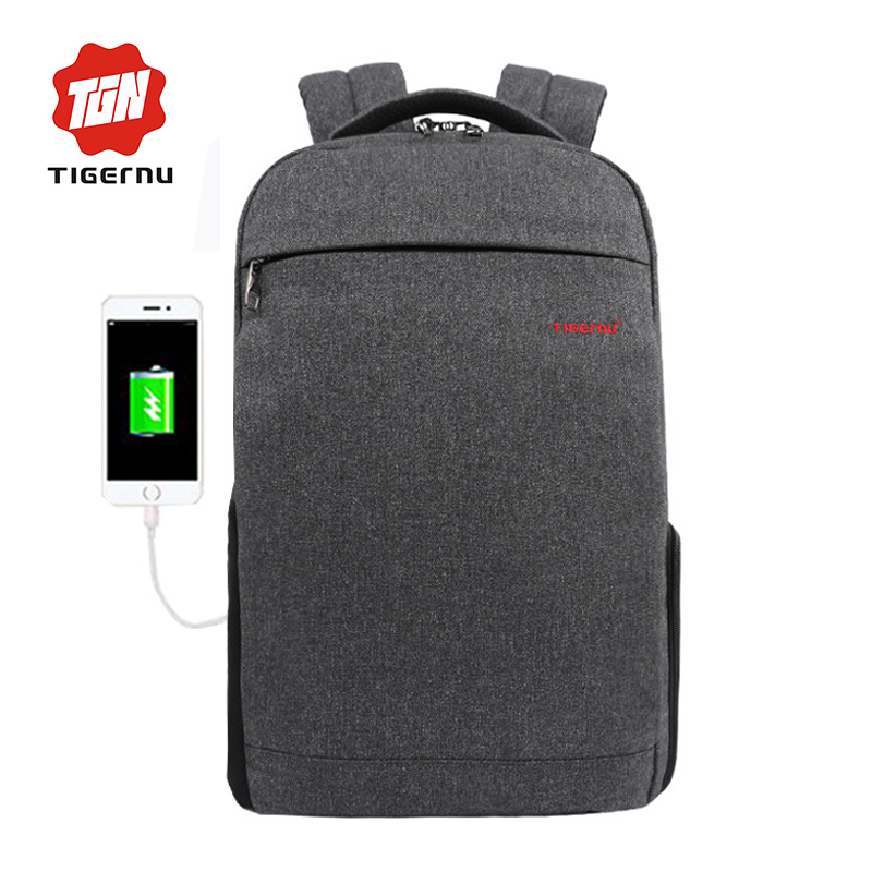 2017 Summer Tigernu Anti-thief USB charging Laptop Backpack youth backpack for women male bagpack school Bag for Men Mochila<br>