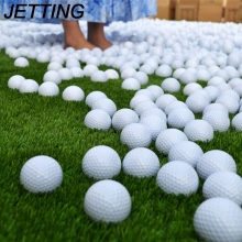 JETTING 10pcs Indoor Outdoor Practice Training Aids Golf Balls Outdoor Sports White PU Foam Golf Ball