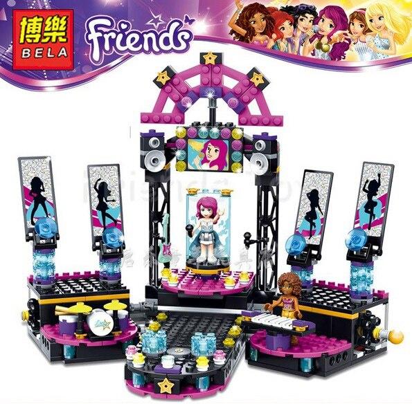 2017 New Arrivals 10406 BELA Building Blocks Friends Pop Star Stage Buildable Figures Compatible Legoe Toys For Girls<br><br>Aliexpress