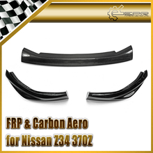 For Nissan Z34 370Z Kouki Late Model JDM Carbon Fiber And FRP Front Lip(Middle Part is Carbon) Car Styling(Hong Kong)