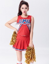 S-XXL Sexy Cheerleading Glee Basketball Cheerleader Costume Aerobics Clothing Uniforms for Performances Halloween Fancy Dress