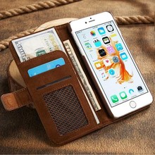 Business Wallet Filp Phone Case For Apple iPhone 6 6s Plus Coque 7 7Plus Capa Card Slot Holster Leather Cellular Phone Funda Bag(China)