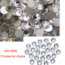 Nails Decoration Nial Art Non Hot Fix Sparkals Glitter Clear Markup Rhinestones For Eye Makeup Design