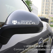 Car Stickers AGENTS of SHIELD Avengers Decals For Rearview Mirrors Auto Tuning Styling Cyter Waterproof Fashion 2 PCS/Set D10
