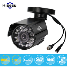Metal Case CCTV Camera analog 800TVL 1000TVL Day/Night Vision mini Outdoor IP66 Waterproof Bullet Camera for cctv system hiseeu