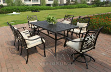 7-piece cast aluminum table and chair Outdoor furniture garden set durable and comfortable
