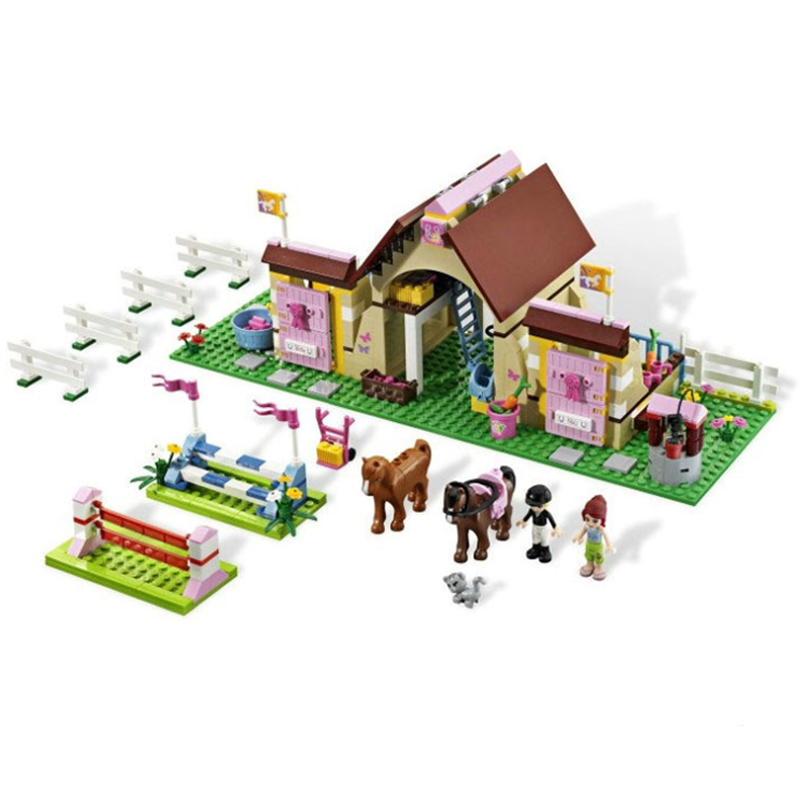 10163 400 Pcs Friends Series Heartlake Stables Girls Mias Farm Model Building Blocks Bricks Gift Set Toys Compatible 3189 Gifts<br>