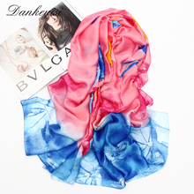 [DANKEYISI] 2017 Autumn Scarf Women Fashion Ladies Scarves High Quality Silk Scarf Luxury Brand Design Bandana Accessories
