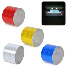 3m*5cm Reflective Strips Car Stickers Motorcycle Decoration Automobiles Safety Warning Mark Tapes Car-styling CSL2017