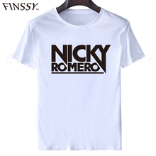 2017 Summer Men T-shirt electronic music major suit DJ Nicky Romero front logo t shirts
