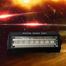 New arrival Led 200W Strobe Light For Party Disco DJ Bar Light Show stroboscope Strong Flash Light(China)