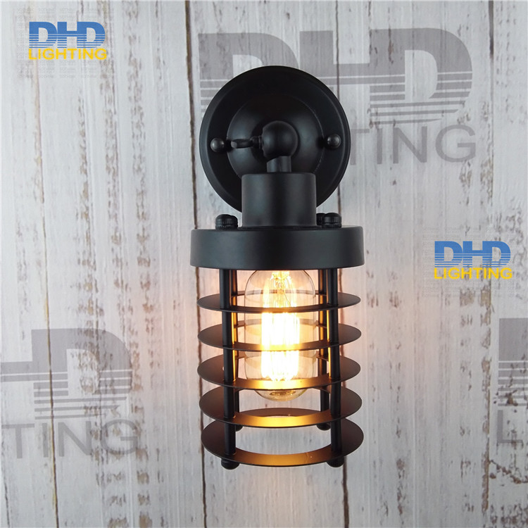 Retro Iron Wall Sconce/Lamp European and American Country Simplicity Living Room Hallway Bedside Decorative Wall Lamp<br><br>Aliexpress
