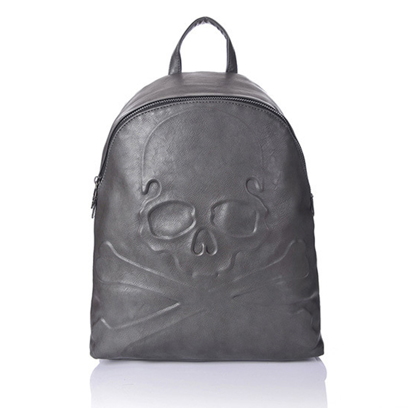 2017 new winter retro personality embossed skull internal interval Korean version of womens backpack free shipping<br><br>Aliexpress