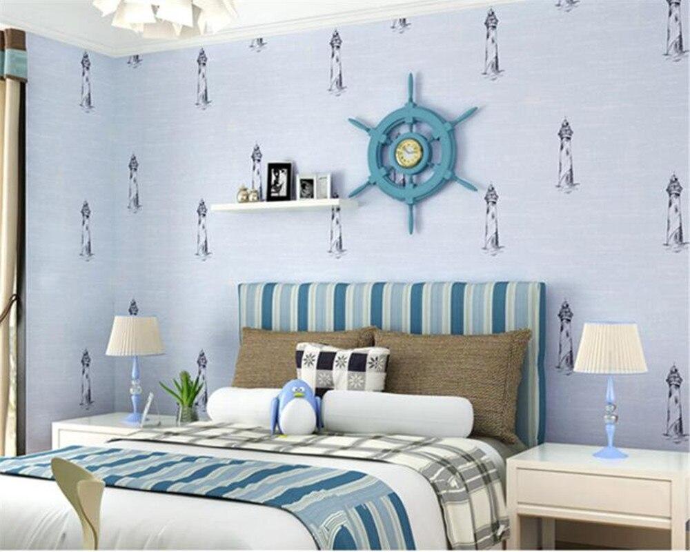 Beibehang Kids Room Wallpaper Hand Painted Mediterranean Style Wallpaper Bedroom Living Room Desktop 3D Wallpaper papier peint<br>