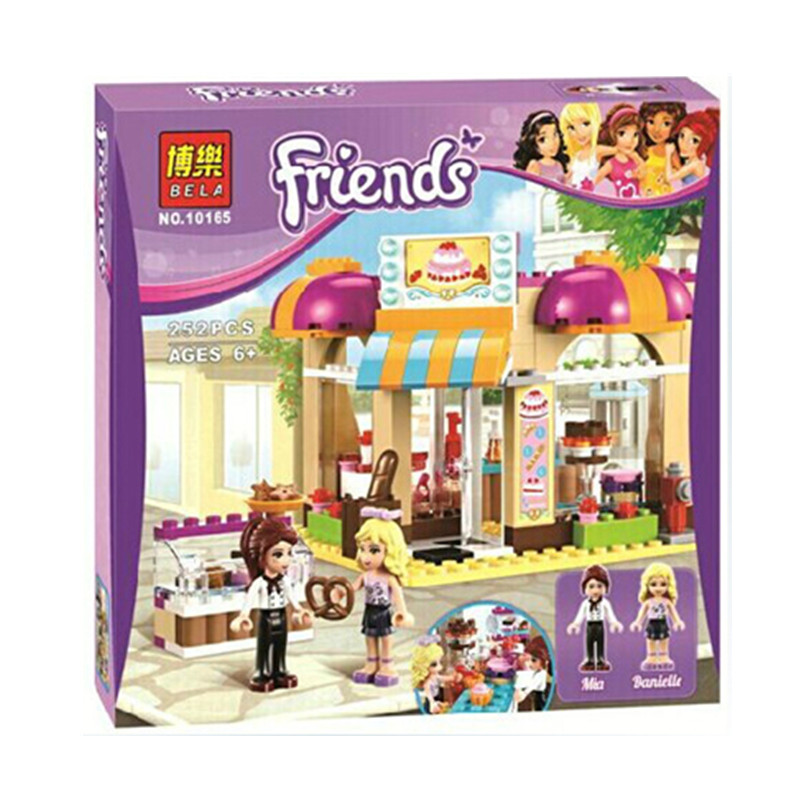 BELA 10165 Assemblage Building Blocks City Cake Shop Bricks Toys Gift Compatible With toys Girls friends Series 41006<br><br>Aliexpress