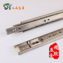 [business] 45 stainless steel hardware three ball seventy percent off drawer slide rail / slide /