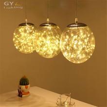 Modern Art deco kitchen dining room led chandelier 29W LED wire string light restaurant industrial glass pendant lustres lamp