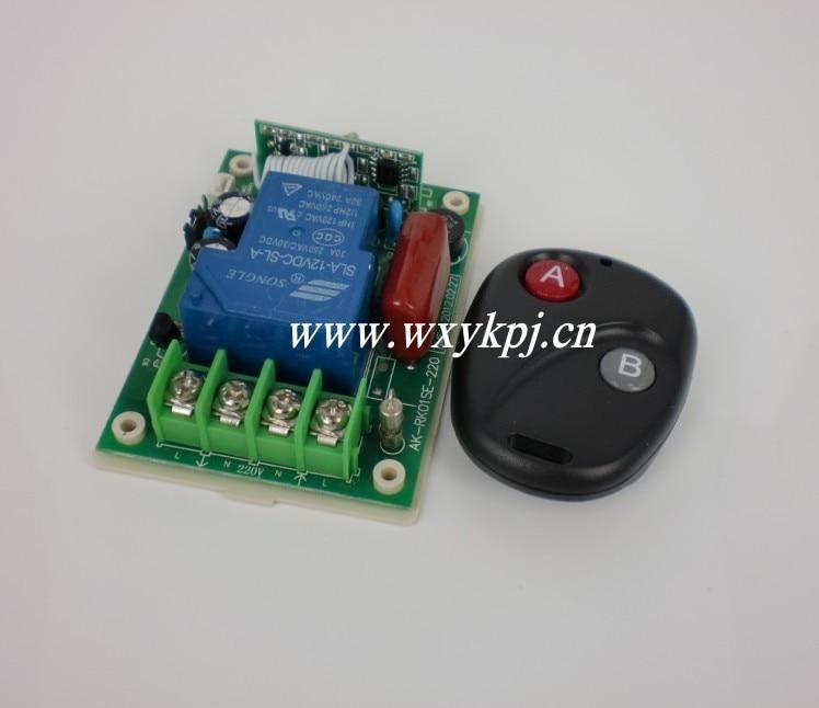 High Power AC 220V 30A 3000W 1 CH Inter-Lock Wireless Remote Controller 220 V 1 Channel Switch Board Remote Control<br><br>Aliexpress