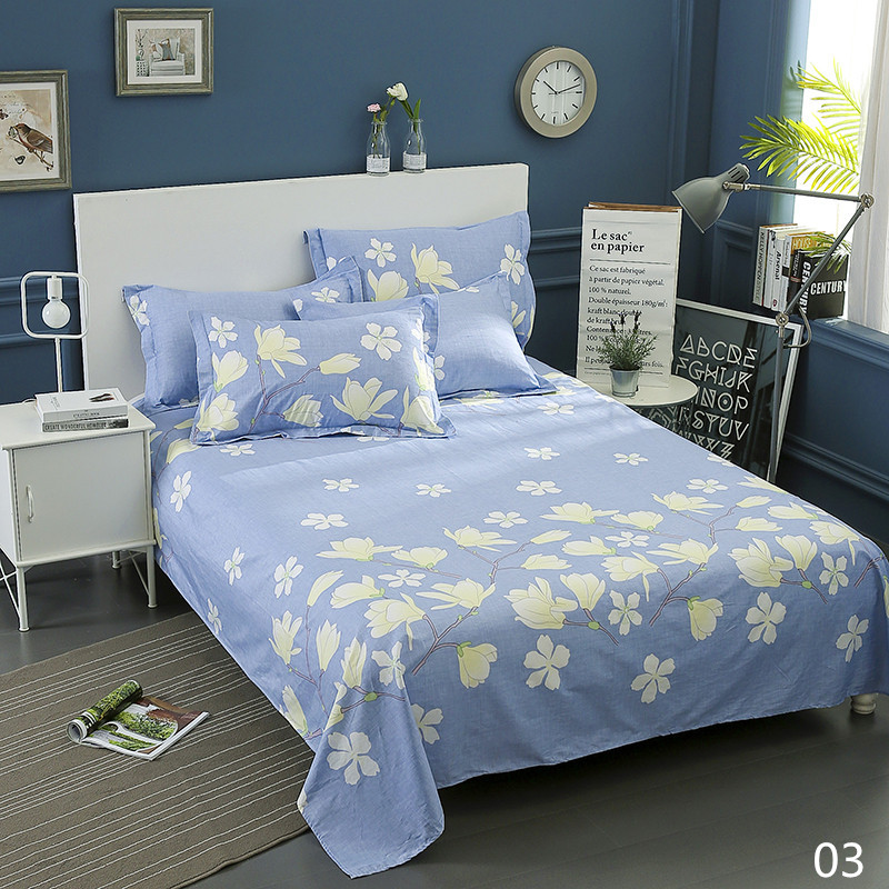 100% Cotton Modern Fashion Bed Flowers Flowers And Trees Printing Pattern 3pcs Bed Sheets Pillowcase Large Size 230x250cm 6