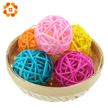 hot sale 20pcs/lot 3cm birthday party decor Wedding decoration Rattan Ball,Christmas Decor Home Ornament Home Decoration(China)