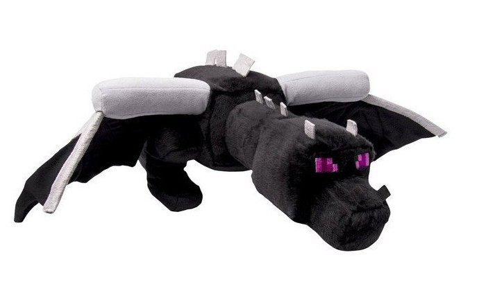 Big Size 60cm Minecraft Ender Dragon Plush Toys Black Minecraft Enderdragon Stuffed Plush Toys Cartoon Game Soft Toy Kids Gift(China (Mainland))