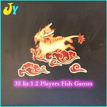 35 in 1 multi games PCB board 2 players fish game Fishing hunter with cable wires for arcade game casino game machine