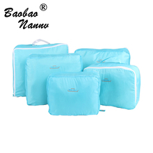 5 PCS/Set Fashion Durable Waterproof Polyester Travel Bags For Men Women Luggage Underwear Clothing Sorting Bag Packing Cubes(China)
