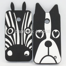 For Nokia Lumia 630 Cases Shell Lovely New Cute Cartoon 3D Zebra Dog Soft Silicone Case For Nokia Lumia 630 635 Phone Cover Case