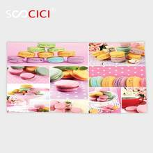 Custom Microfiber Ultra Soft Bath/hand Towel,Colorful Collage of Tasty Macaroons Delicious French Desert Napkins Dots Kitchen(China)