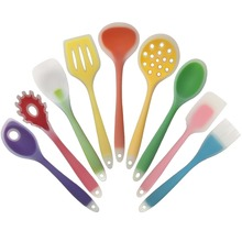 Retail 1pc Cookware Nylon And Food Grade Silicone Kitchen Cooking Tools Spatula And Spoon Colorful Kitchenware 9 Style