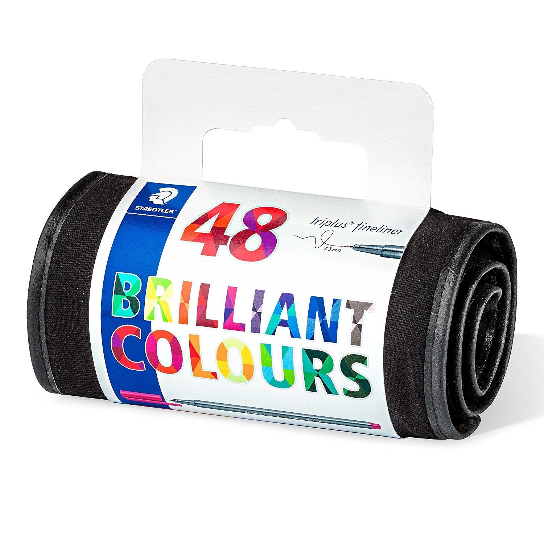 Aliexpresscom Comprar Surtidos 20 Colores Mars Staedtler Triplus Fineliner 334 Sb20 Set Pulpen Warna Plumas Estilogrficas Roll Up Pack 48