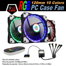 ALSEYE 120mm RGB fan cooler (1piece/pack) 12V 1100RPM, LED RGB strips (2strips/pack) 30cm, RGB controller 5channel touch remote