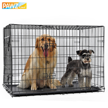 PAWZ Road Domestic Delivery Pet Dog Crate Double-Door Pet Kennel Collapsible Easy Install Fit Your Pets 5 Sizes Pet House(China)