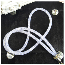 1 x Artificial Crystal Neck Necklace Strap Lanyard U Disk ID Work Card Mobile Phone Straps Keychain Phone Hanging Rope P15(China)