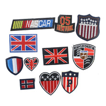 7.9*7cm British Style Embroidered Cute Patches Patriotic Army Patches Military Patch Clothing For Sticker Clothes