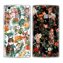 Cat Phone Case Doogee mix mix2 X10 20 30 BL5000 7000 Shoot1 2 Cute flower TPU Transparen Soft Silicone Back Cover - No.4 store