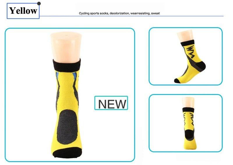 WEST BIKING Men's Compression Socks Badminton Profession Sport Socks Baseball Basketball Running Hiking Riding Cycling Socks 5