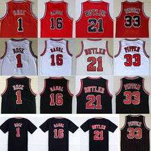 salable Basketball Shirt 1 Derrick Rose 16 Pau Gasol 18usd 21 Jimmy Butler Jersey 33 Scottie Pippen Throwback Red White Black