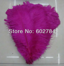 Free Shipping 100pcs/lot Hot Pink/Fushcia ostrich drab feather ostrich plumes 16-18inch 40-45cm for wedding centerpieces
