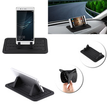 Car Mount Silicone Gel Pad Non-slip Mat Phone Car Holder Stand Cradle Dock For Phone Samsung S6/S5/S4/ iPhone 4/5/5s/6/7S GPS