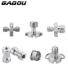 "GAQOU 1/4"" 3/8"" Male Female Thread Screw Mount Adapter Tripod Plate Screw EB Mount for Camera Flash Tripod Light Stand Metal(China)"
