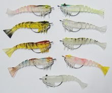 89mm 10g 9 pcs/lot ZEREK style Saltwater Lure Soft Plastic Lure Bait Live Shrimp
